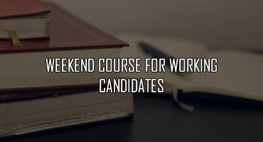 weekend course for working candidates