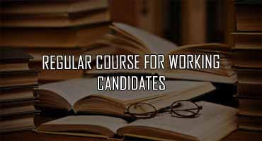 regular course for working candidates